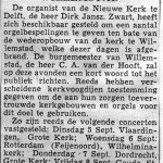 Artikel over orgelconcerten t.b.v. Willemstad